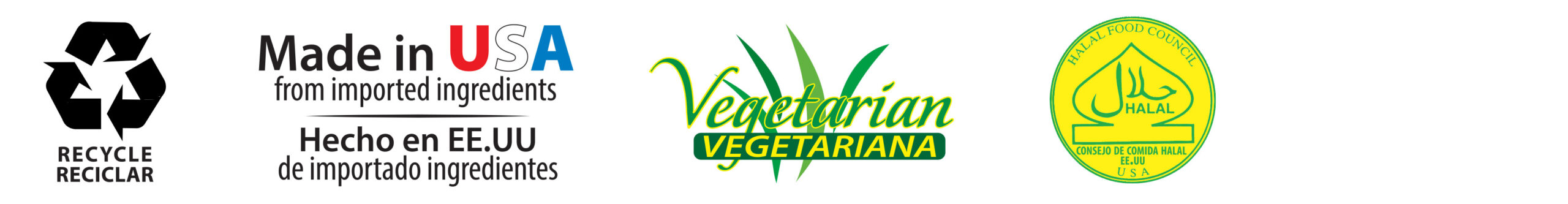 Recycle-Made in USA-Vegetarian-Halal